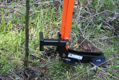The Extractigator tree puller works great with removing trees
